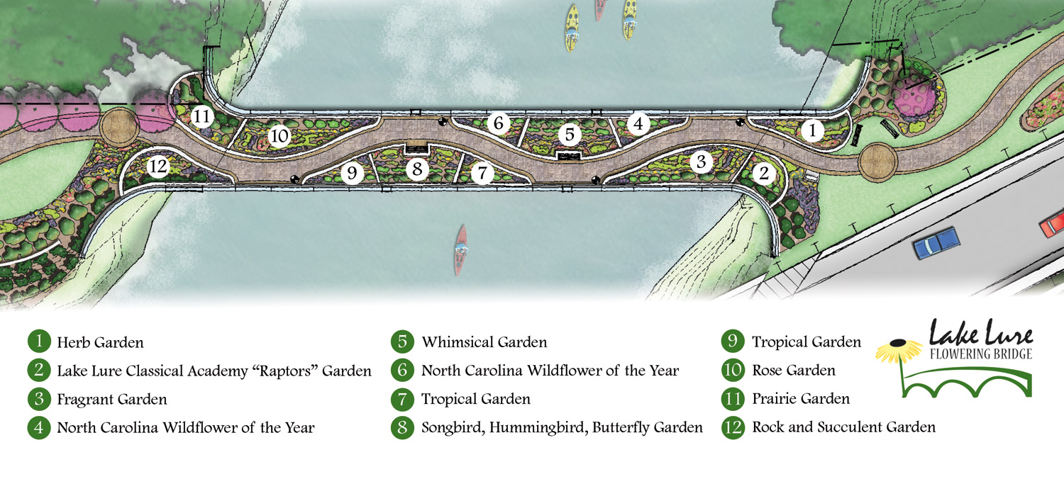 Map Lake Lure Flowering Bridge